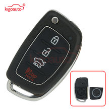 Kigoauto 4 кнопки раскладной складной дистанционный ключ оболочка