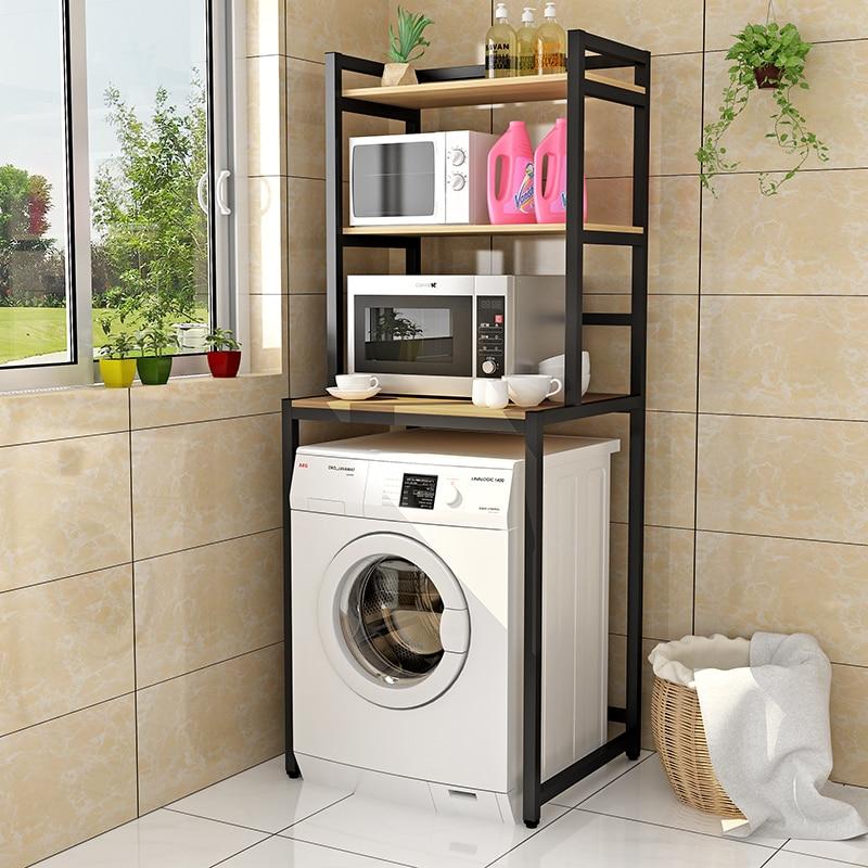 Étagère de rangement pour machine à laver, grande capacité, support de charge, roues ondulées fortes, toilettes multifonctionnelles
