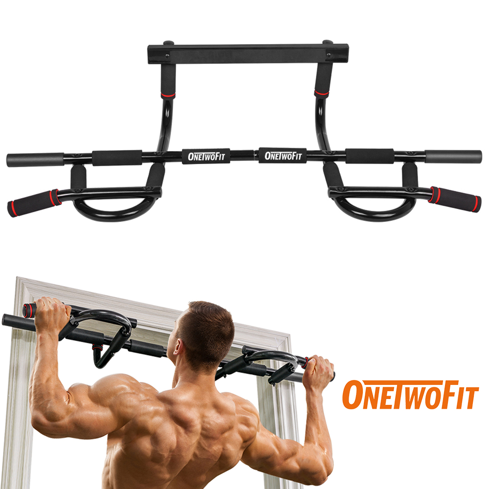 OneTwoFit Pull Up Bar Door Frame Chin Up Bar Station Multi-Grip Bar Heavy Doorway Fitness Equipment For Home Gym Deporte En Casa