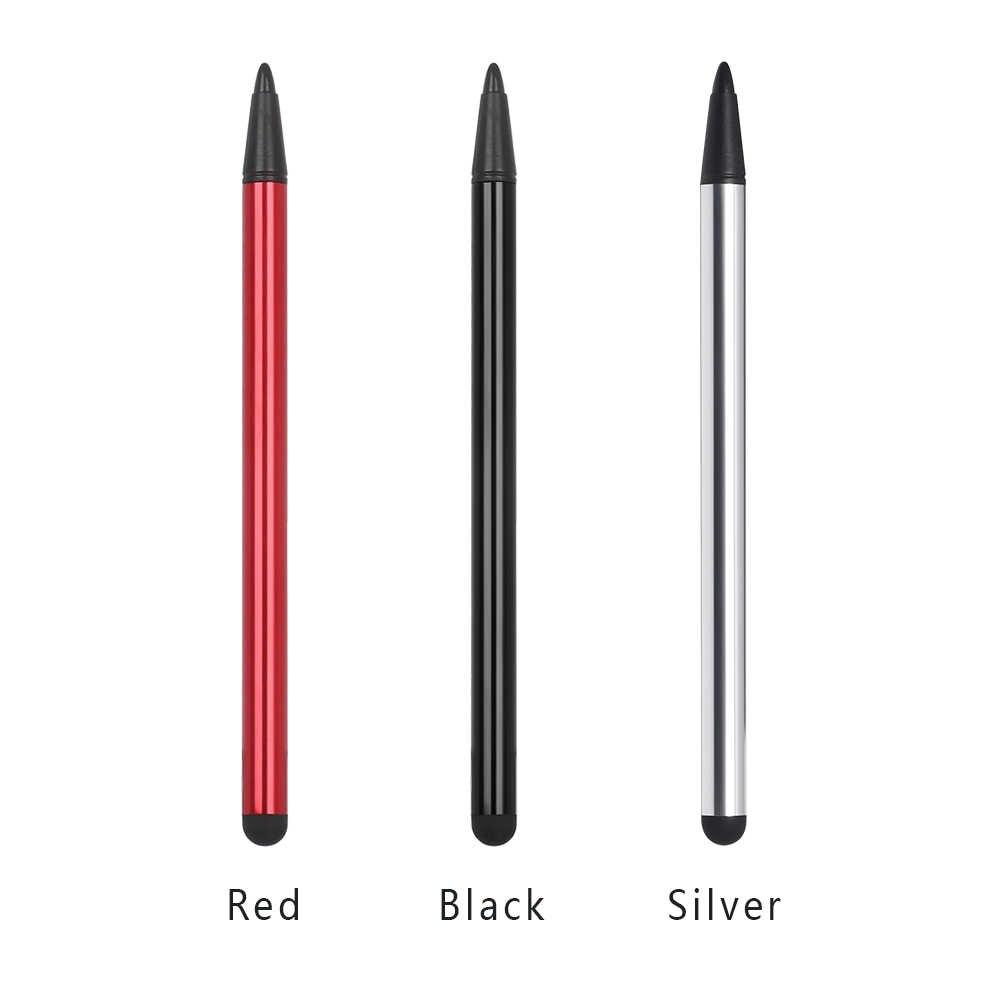 דיוק גבוה 2 ב 1 קיבולי עט מסך מגע Stylus עיפרון טבליות עיפרון עבור Tablet iPad טלפון סלולרי Samsung PC אבזרים