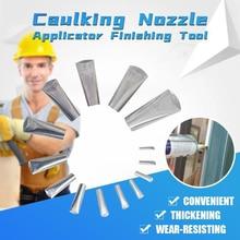 14PCS Caulking Nozzle Applicator Finishing Tool Stainless Steel Sprayer Head Glue Silicone Sealant Kitchen Bathroom Sink Joint