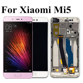 """5.15"""" Original LCD For Xiaomi 5 Mi5 M5 LCD display Touch Panel Screen Digitizer Assembly with frame for Xiaomi Mi 5 LCD"""