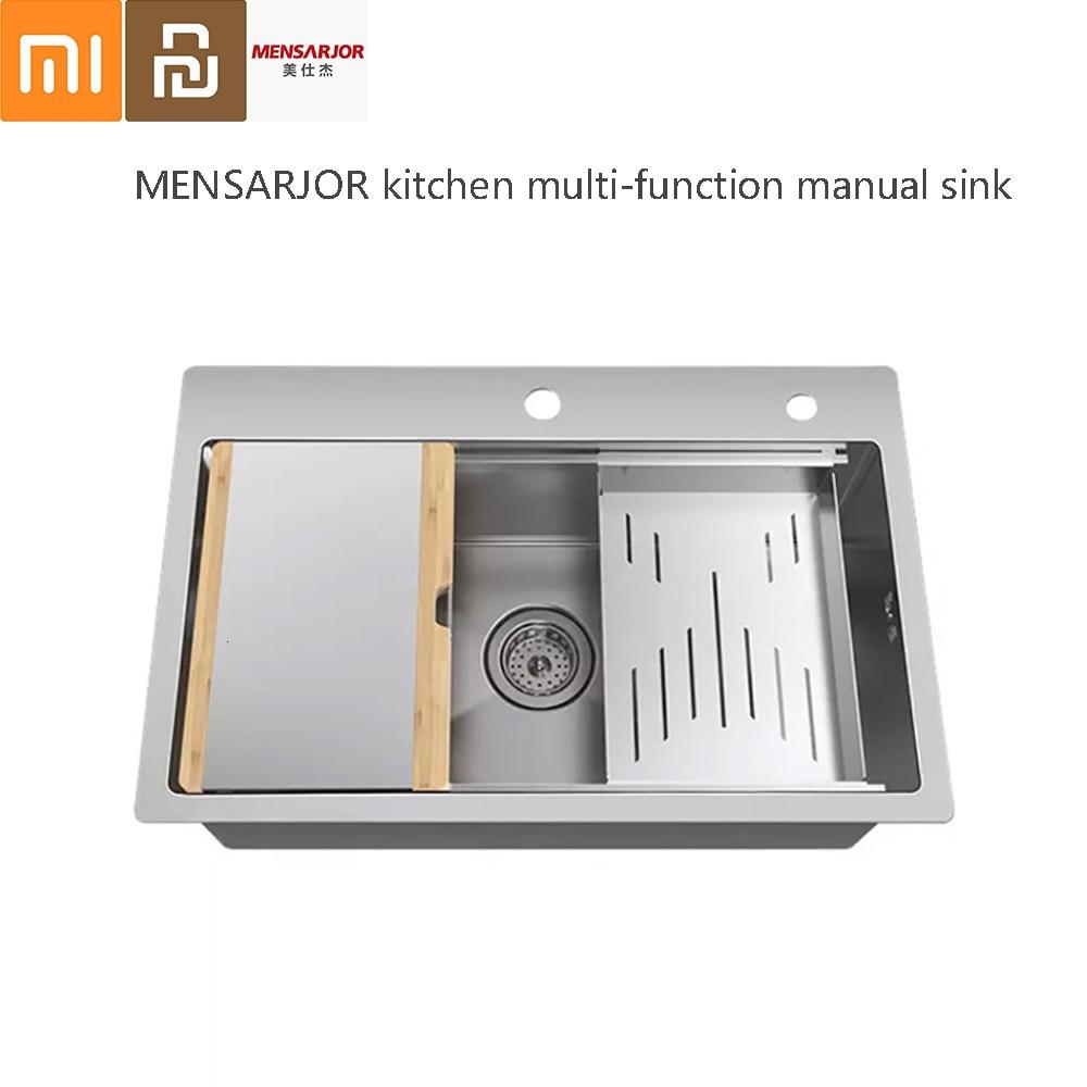 MenSARJOR Multifunctional Kitchen Composite Hand Shell 50L Stainless Steel Shell
