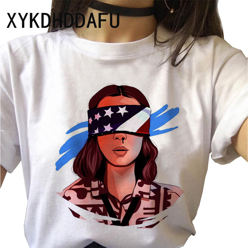 Hdf12195910a54ae1b93afb2a6dee362by - Stranger Things T Shirt Women Harajuku Eleven Aesthetic Streetwear Clothes Vintage Tshirt Female New Summer T-shirt Top Tee