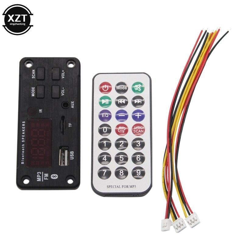 Wireless Bluetooth MP3 WMA Decoder Board Audio Module Support USB TF AUX FM Audio Radio Module For Car accessories