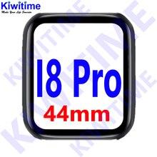 Kiwitime i8 pro gps bluetooth relógio inteligente 44mm freqüência cardíaca pressão arterial iwo 11 atualizar