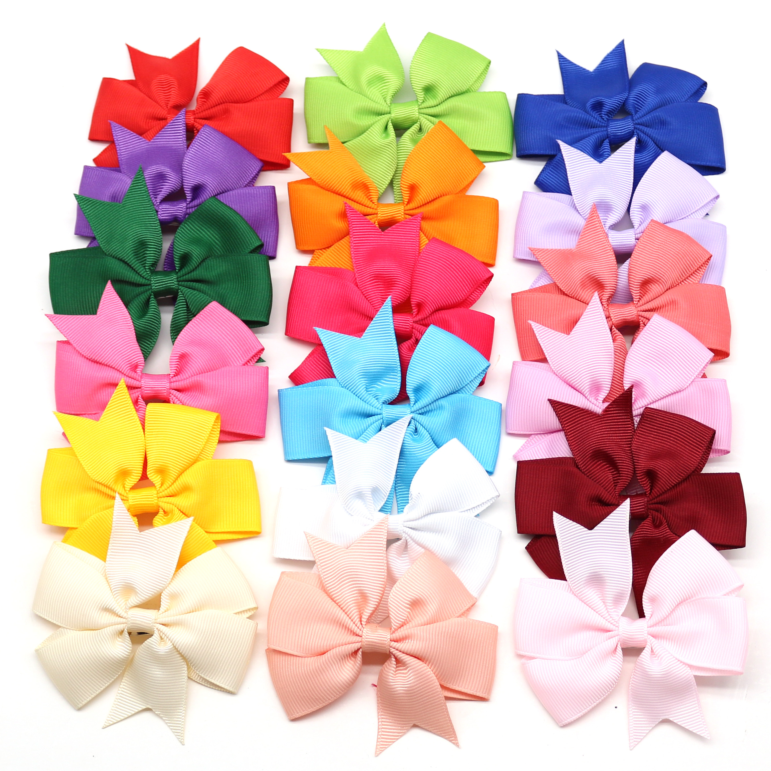 10pcs Large Dog Bows Alloy Clip Dot Designs Big Dog Hair Bows For Holidays Pet Dog Hair Accessories Pet Grooming Products
