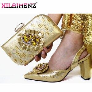 Image 4 - Reife Spezielle Design Zwiebel Farbe Schuhe Und Tasche Zu Passen Set Nigerian High Heels Party Schuhe Und Tasche Set Für hochzeit Kleid