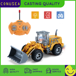 1/30 RC Truck RC Excavator 2.4G Radio Controlled 4 Channel Tractor Model Enginering Vehicle Toy Construction cars Toys for boys