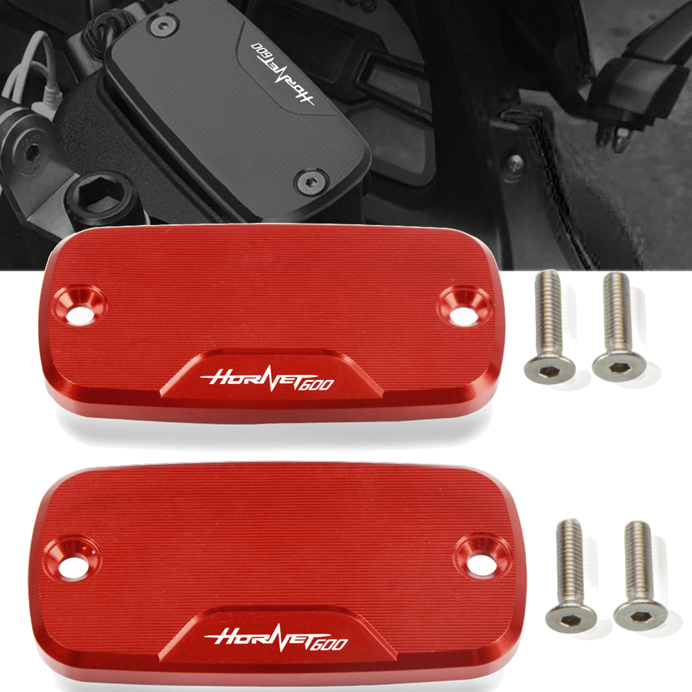 Motorcycle cnc Front Fluid Reservoir Cover Cap <font><b>Hornet</b></font> <font><b>600</b></font> For HONDA <font><b>Hornet</b></font> <font><b>600</b></font> 1998-2006 1999 2000 2001 2002 2003 2004 <font><b>2005</b></font> image