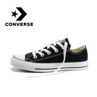 Original Authentischen Converse ALL STAR Paar der Skateboard Schuhe Klassische Schwarz Weiß Casual Sneakers Licht Komfortable 101001-in Skateboarding aus Sport und Unterhaltung bei