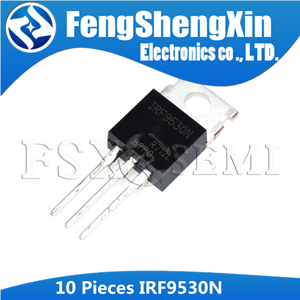 Image 1 - 10 pièces/lot IRF9530N IRF9530 TO 220 MOSFET de puissance (Vdss = 100 V, Rds (on) = 0.20ohm, Id = 14A)