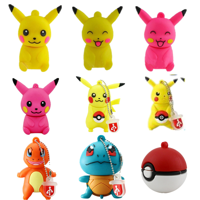 Pokemon Pikachu Usb Flash Drive 256GB Pendrive Cute Cartoon Flash Memory Card 4G 8G 16GB 32G 64G 128GB Pen Drive Usb Disk On Key