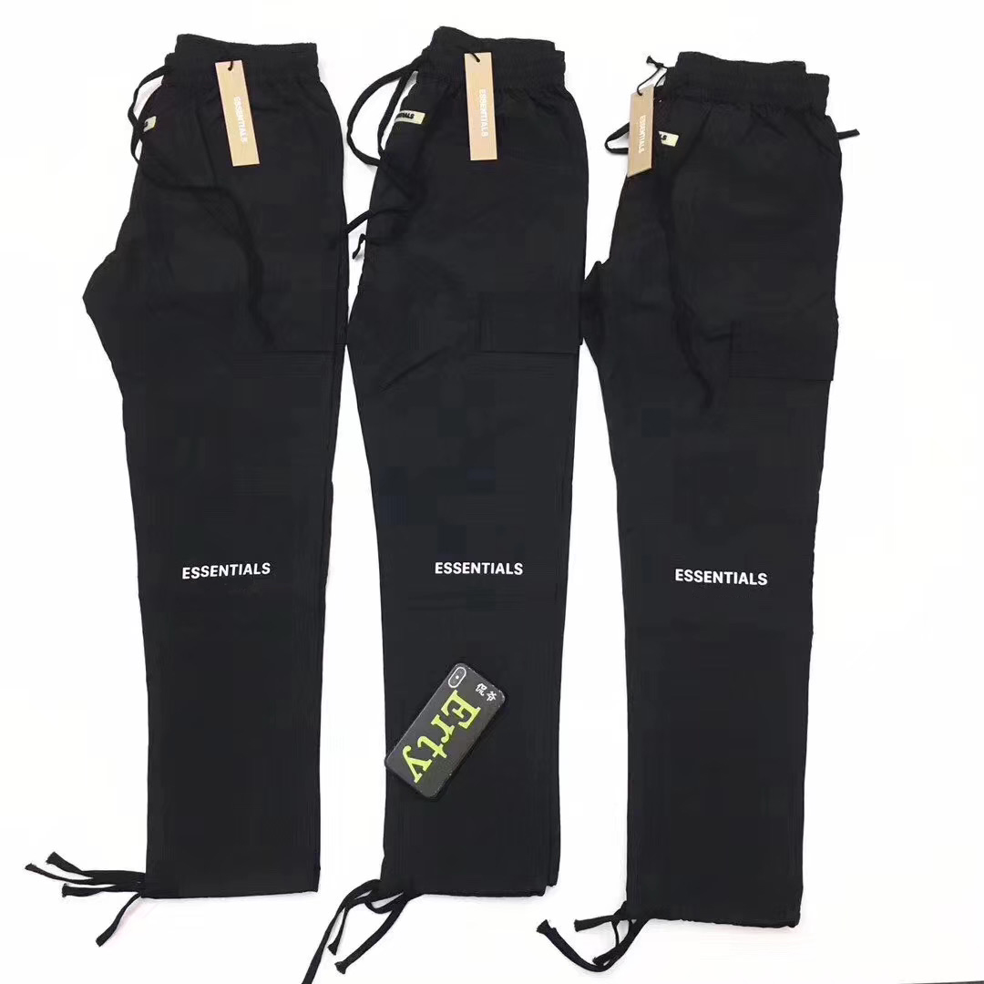 2019 Fog ESSENTIALS Logo Embroidery Women Men Pocket Track Pants Hiphop Streetwear Men Casual Pants Trousers Straight Fit