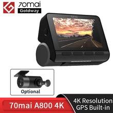 متوفر 70mai داش كام A800 ثنائي الرؤية 4 K 140 FOV سوبر للرؤية الليلية نظام تحديد المواقع ADAS 24H شاشة للمساعدة في ركن السيارة بسهولة كاميرا DVR 70mai 4 k A800 4 k