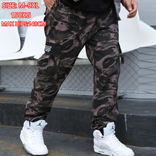 הסוואה מכנסיים מטען 8XL רצים Militar גברים מכנסיים היפ הופ צבא Camo Spodnie Meskie איש כותנה מכנסי טרנינג 6XL Kargo Ropa