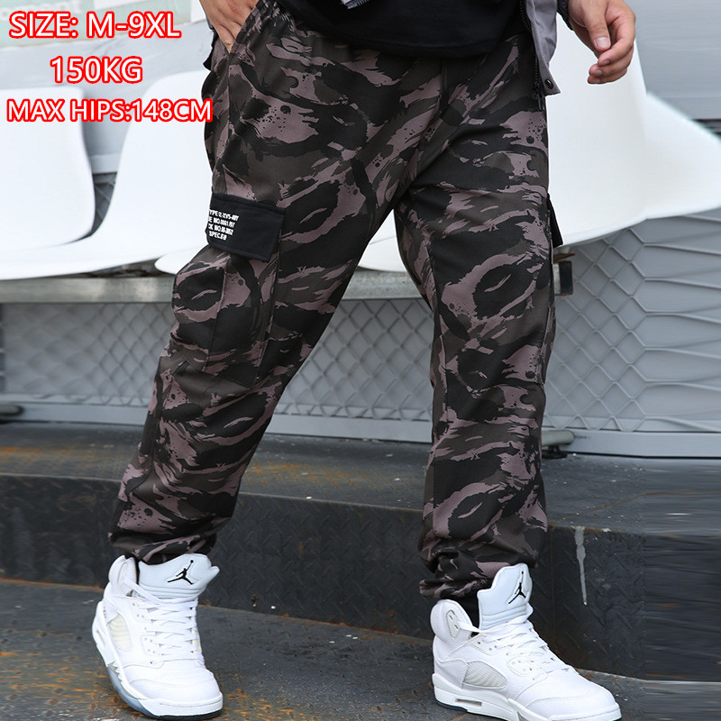 Camouflage Cargo Pants 8XL Joggers Militar Men Trousers Hip Hop Army Camo Spodnie Meskie Man Cotton Sweatpants 6XL Kargo Ropa