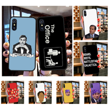 Nbdruicai Het Kantoor Tv Show Telefoon Case Cover Voor Iphone 11 Pro Xs Max 8 7 6 6S Plus X 5S Se Xr Case(China)