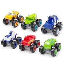 6 шт./компл. Blaze machine Car Toys, русская чудо-дробилка, грузовик, фигура, сверкающие игрушки для детей, рождественские подарки, детская игрушка