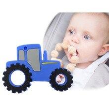 Детский силиконовый Прорезыватель для прорезывания зубов игрушечный бисер в форме автомобиля жевательное ожерелье инструмент для кормления пищевые силиконовые подвески