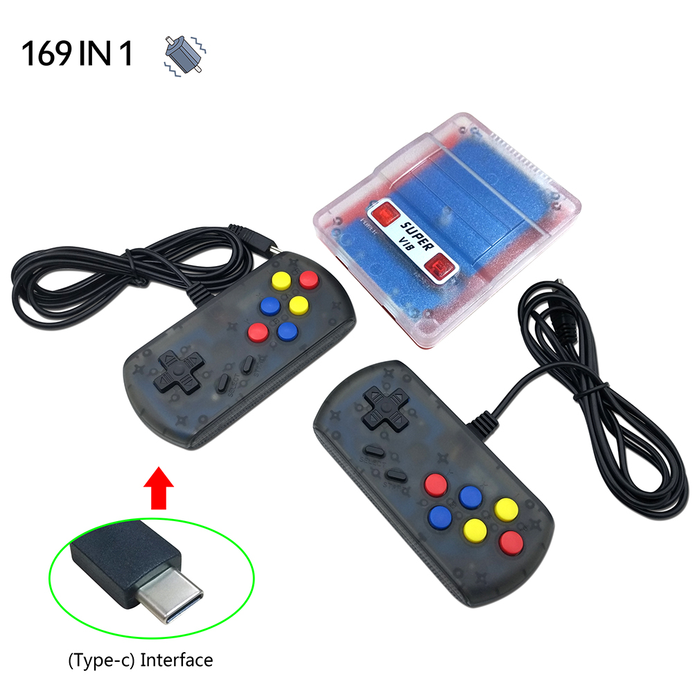 Mini Console TV Game Console 8 Bit Retro Video Game Console Built-in 169 Games Handheld Game Player