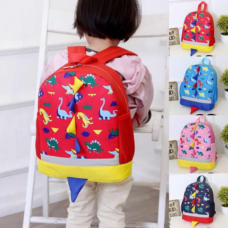 Crianças saco bonito dos desenhos animados dinossauro crianças sacos do jardim de infância pré-escolar mochila para meninos meninas do bebê sacos de escola 3-4-6yearseld