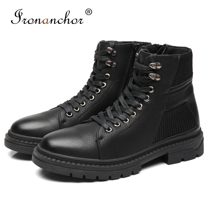 2019 Autumn Men Ankle Boots High Quality Luxury Rubber Fashion Male Boots #PZG05