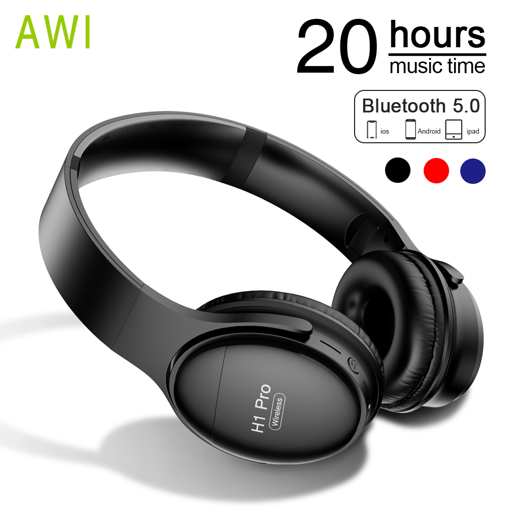 Bluetooth Headphones Wireless Headset Foldable Over-ear Noise Canceling Gaming Stereo Headphone with Mic for Phone PC Mp3 Music image