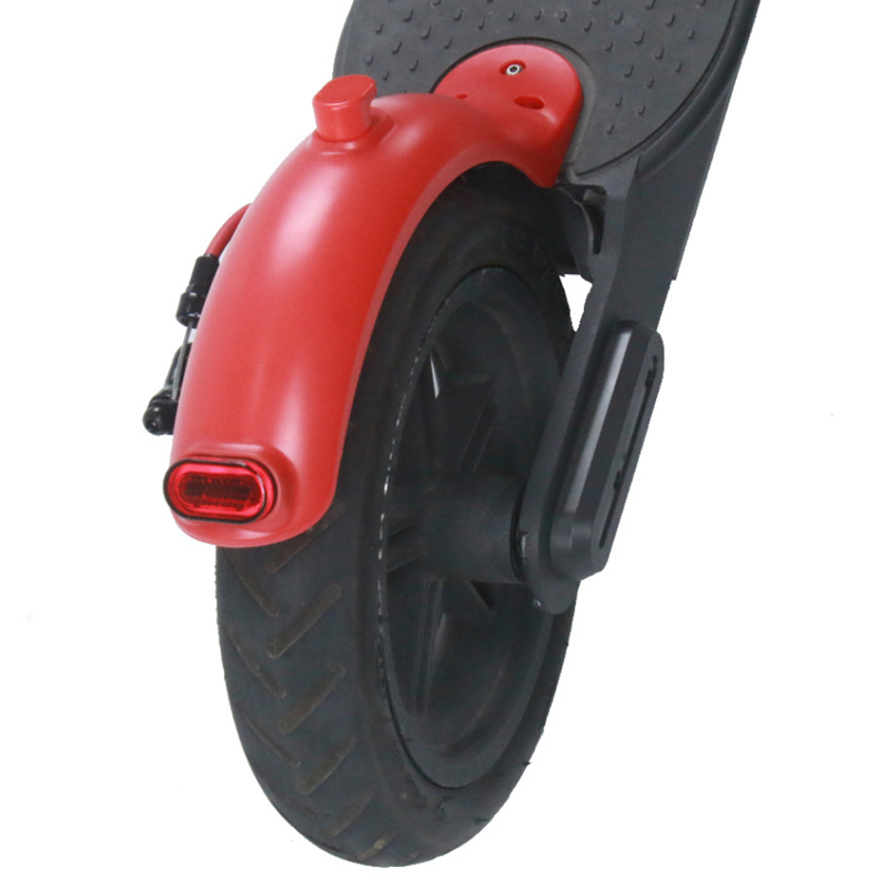 For Xiaomi Mijia Electric M365 Scooter Mudguard Ducktail Rear Back Fender Guard Wing Shelf with Rear Tail Lamp Back Brake Light(China)