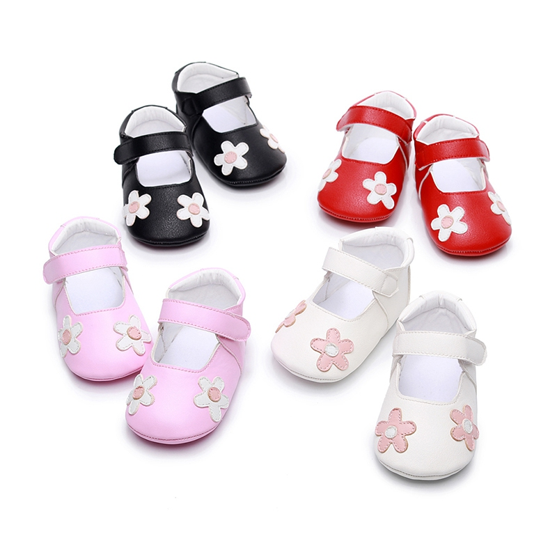 Baby Shoes Sweet Casual Princess Girls Baby Kids Pu Leather Solid Crib Babe Infant Toddler Cute Ballet Mary Jane Shoes