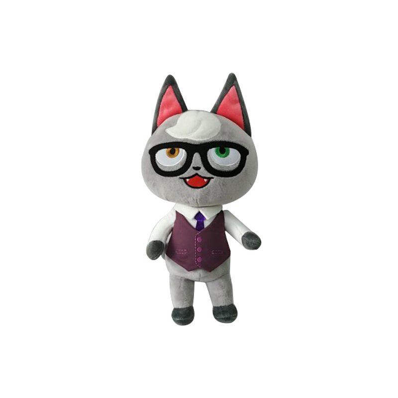 Raymond Animal Crossing Plush Kawaii Pillow Cartoon Figure Cat Plush Toy Doll Children Gift Soft Stuffed Toys with Clothes