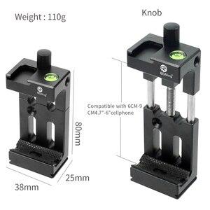 Image 5 - XJ 8 tripé do telefone suporte de cabeça montagem do tripé suporte do telefone móvel clipe para o telefone lanterna microfone com nível espírito