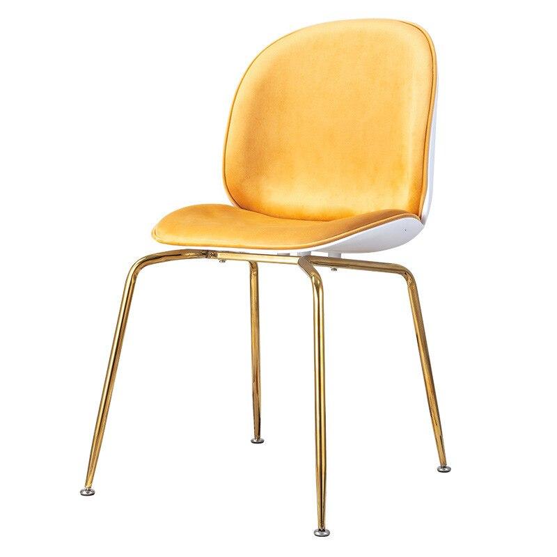 Metal beetle dining table chair light luxury computer chair modern creative fashion coffee shop lazy chair
