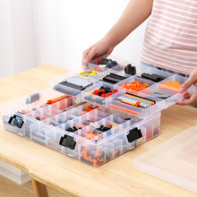 Childrens Portable toy Storage box With Large Capacity is Suitable for Transparent Plastic with Adjustable Space fo
