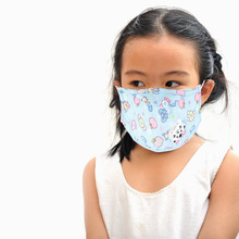 цена на 3pc Pm2.5 Cotton Anti Dust Mouth Mask Children Mouth Mask Face Masks Activated Carbon Filter Windproof With Breathing Valve Mask