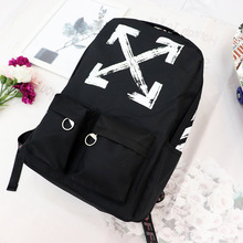 OFF OW WHITE correct version webbing backpack multifunctional male and female couple bag student school bag