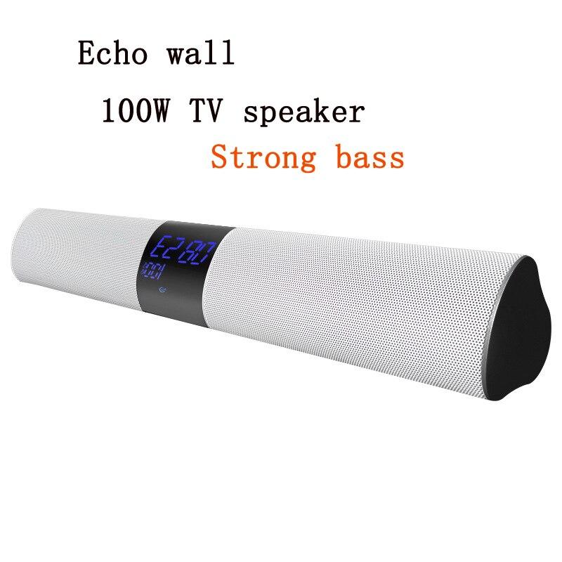 Dual Soundbar Alarm Clock Computer TV Speaker Home Theatre Loudspeaker Subwoofer Super Bass Wireless Bluetooth Desktop Speakers