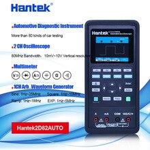 Hantek multímetro de osciloscopio automotriz Digital automático 2D82, 4 en 1, 2 canales, 80MHz, fuente de señal, diagnóstico automotriz 250MSa/s
