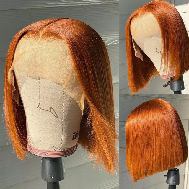 Short Bob Wig Ombre Lace Front Wigs For Black Women Brazilian Human Hair Highlight Wig Bob Lace Closure Wig Pre Plucked Hair 1
