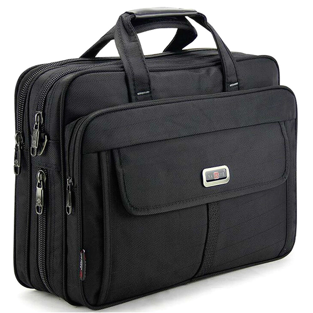 Men Briefcase Handbags Man Work Bag For Lawyer Office Handbag Women Waterproof Nylon Laptop Bags Business 15.6 Inches Computer