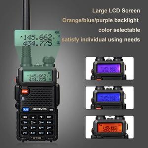 Image 4 - Retevis RT5R لاسلكي تخاطب 4 قطعة شاحن يو اس بي محطة راديو 5 واط 128CH VHF UHF ثنائي النطاق راديو FM اتجاهين راديو محمول Comunicador