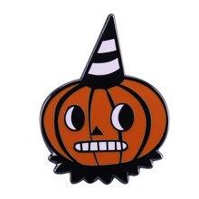 Moda abóbora chapéu crachá adorável dia das bruxas ação de graças festa favor decoração