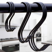 10 pces/6pc preto de aço inoxidável s-gancho para pendurar bola superior chave armário organizador decoração natal pendurado presentes