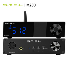 SMSL M200 + SMSL SP200 AKM4497 High Resolution Full Balanced Bluetooth 5.0 USB DAC DSD512 PCM 32bit/768kHz Remote Conteol smsl m400 flagship dac ak4499 full balanced buletooth 5 0 dsd512 музыкальный центр lg usb coaxial optical hifi xmos decoder