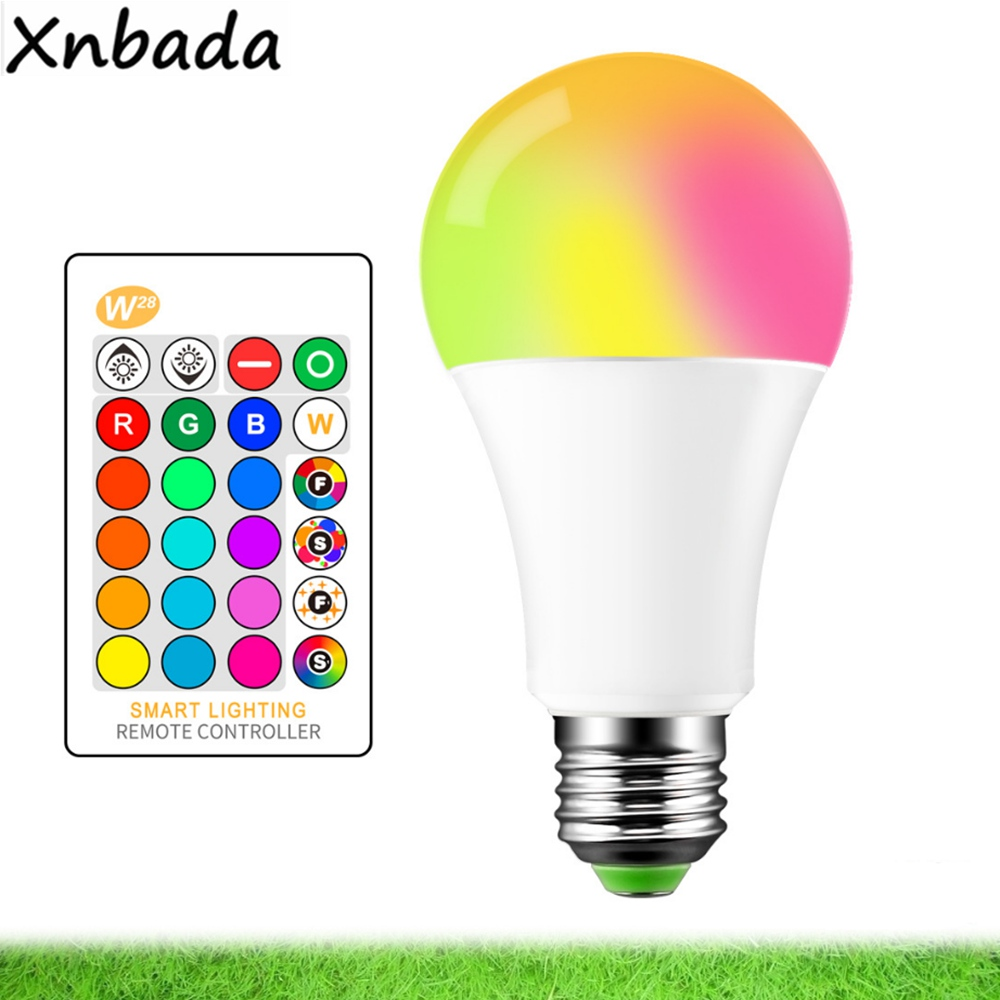 E27 3/5/10W 16Colors Changing Magic LED Bulb RGB AC85-265V+ White Remote Smart Light lamp Dimmable Memory + IR Remote Control