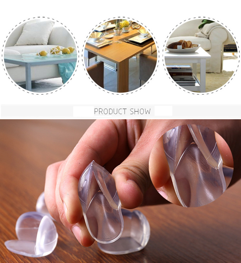 4Pcs Child Baby Safety Silicone Protector Table Corner Edge Protection Cover Children Anticollision Edge & Guards 6