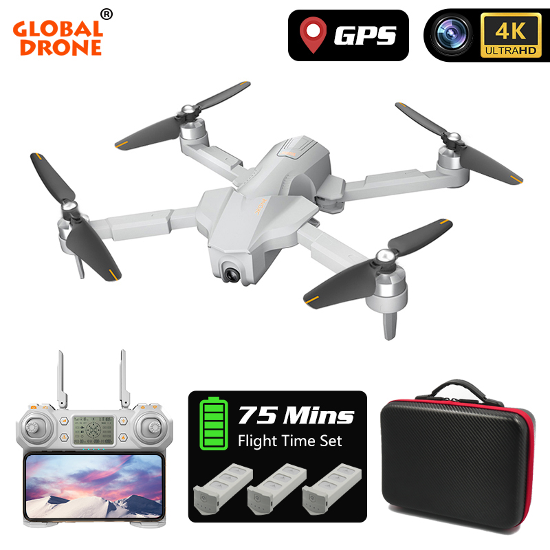 Drone 4K GPS Drones with Camera HD Brushless Follow Me Professional Quadrocopter FPV Wifi 4K Dron VS SG906 E520 F11 PRO ZEN K1|RC Helicopters| |  - title=
