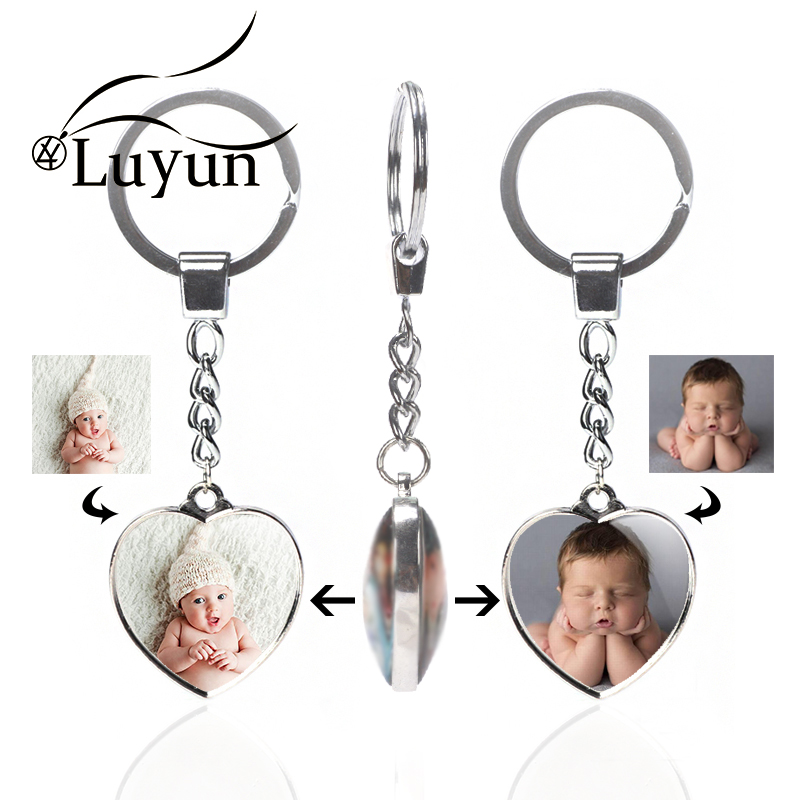 Luyun Double-sided Crystal Keychain Personalized Jewelry Variety Of Shapes Custom Photo Goliday Gift