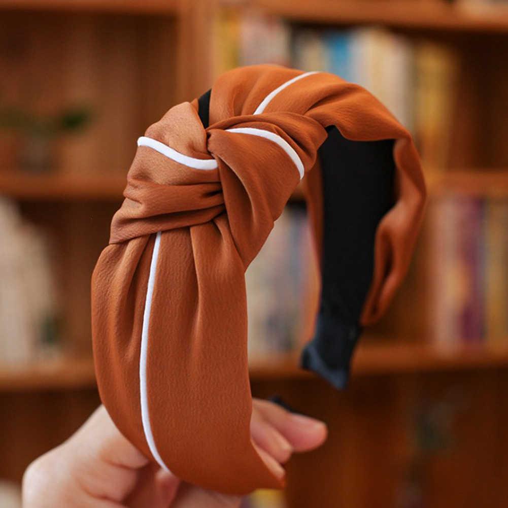 الرجعية القوس عقدة الصليب شريط رأس معقود الأبيض حافة رباط شعر واسعة تويست المرقعة رئيس هوب هيرباند إكسسوارات الشعر اللثة أغطية الرأس