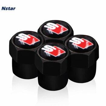 цена на Nstar 4pcs/set S Line Alloy Auto Tire Valve Cap Sport Car Decoration Wheel Valve For Q3 A4L A4 A7 A3 A6L Q5 019